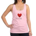 i-heart-dogs4.png Racerback Tank Top