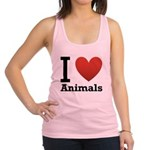 i-love-animals.png Racerback Tank Top