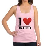 i-love-weed.png Racerback Tank Top