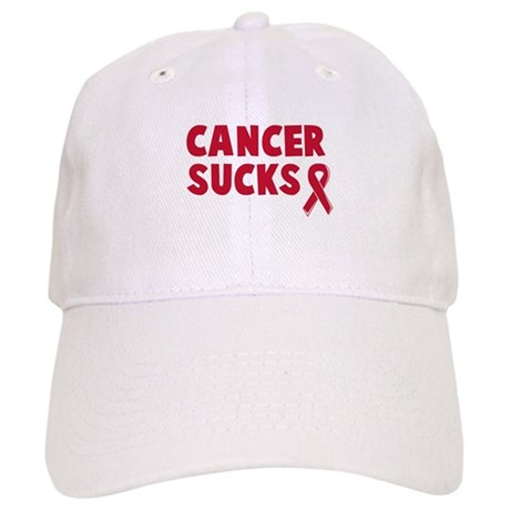 Cancer  on Awareness Gifts   Awareness Hats   Caps   Cancer Sucks Baseball Cap