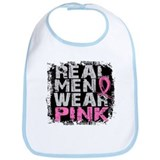 Real Men Wear Pink 1 Bib