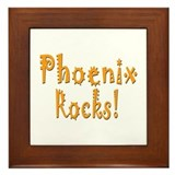 Phoenix Rocks! Framed Tile