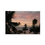 Moorea Sunset 3 Rectangle Magnet