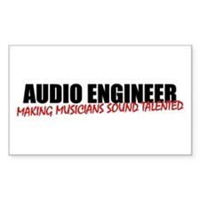 Audio Engineer Decal