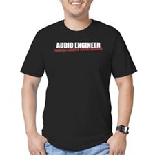 Audio Engineer T-Shirt (men's fitted dark)