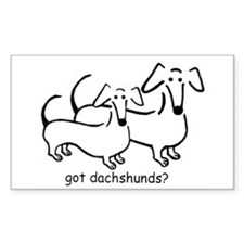 got dachshunds? Decal