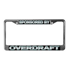 Sponsored by overdraft License Plate Frame