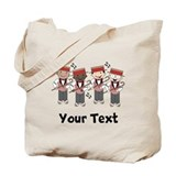 Personalized Barbershop Music Tote Bag