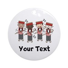 Personalized Barbershop Music Ornament (Round)