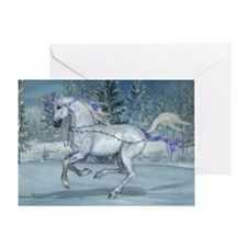 Holiday Unicorn 2012 Blue Greeting Card