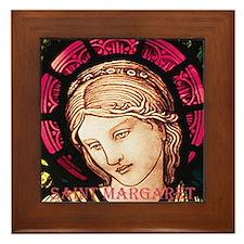 St Margaret Framed Tile