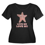 Love Me Women's Plus Size Scoop Neck Dark T-Shirt