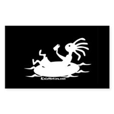 Kokopelli Tuber Rectangle Decal