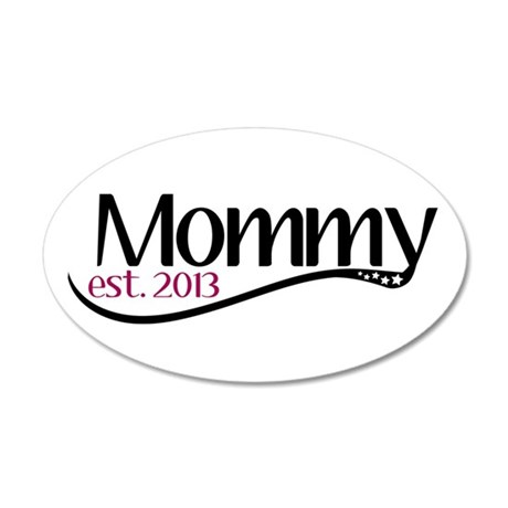 New Mommy Est 2013 20x12 Oval Wall Decal