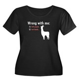Wrong with Me Women's Plus Size Scoop Neck Dark T-