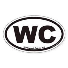 Wildwood Crest WC Euro Oval Decal