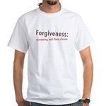 Forgiveness White T-Shirt
