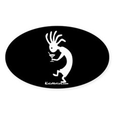 Kokopelli Martini Drinker Oval Decal