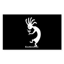 Kokopelli Martini Drinker Rectangle Decal