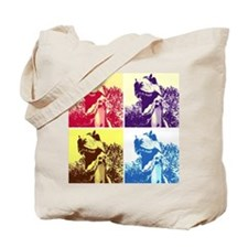 Dinosaur T-Rex Pop Art Tote Bag