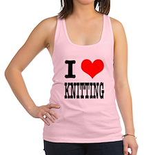 KNITTING.png Racerback Tank Top