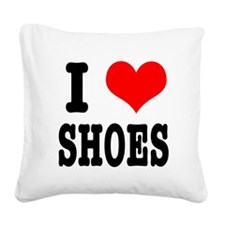 shoes.png Square Canvas Pillow