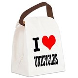 UNICYCLES.png Canvas Lunch Bag