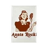 Aunts Rock Rectangle Magnet