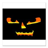 "Jack OLantern face 2 Square Car Magnet 3"" x 3"""
