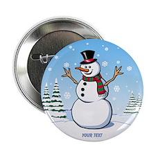 "Custom Snowman 2.25"" Button"