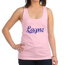 Layne, Blue, Aged Racerback Tank Top