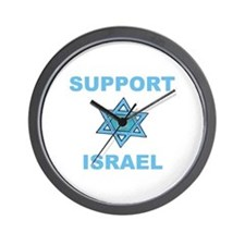 Support Israel Star of David Wall Clock