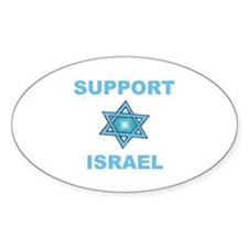 Support Israel Star of David Oval Decal