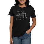 Pioneer Plaque Women's Dark T-Shirt