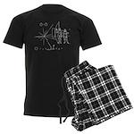 Pioneer Plaque Men's Dark Pajamas