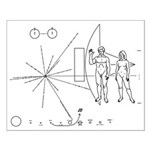 Pioneer Plaque Small Poster