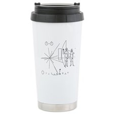 Pioneer Plaque Ceramic Travel Mug