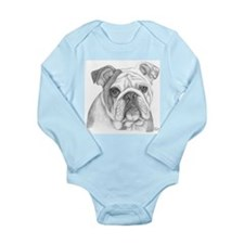 English Bulldog Long Sleeve Infant Bodysuit