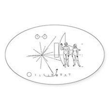 Pioneer Plaque Decal