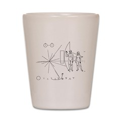 Pioneer Plaque Shot Glass