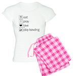 Eat pray love darts Women's Light Pajamas
