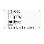 Eat pray love darts Banner