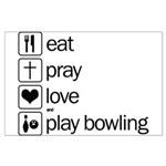 Eat pray love darts Large Poster