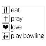 Eat pray love darts Small Poster