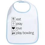 Eat pray love darts Bib