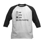 Eat pray love darts Kids Baseball Jersey