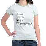 Eat pray love darts Jr. Ringer T-Shirt