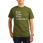 Eat pray love darts Organic Men's T-Shirt (dark)