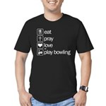 Eat pray love darts Men's Fitted T-Shirt (dark)