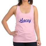 Macey, Blue, Aged Racerback Tank Top